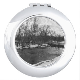 Snow Beauty James River Grayscale Compact Mirrors
