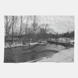 Snow Beauty James River Grayscale Kitchen Towel
