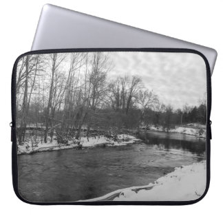 Snow Beauty James River Grayscale Laptop Sleeve