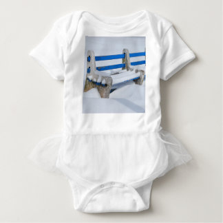 Snow Bench Baby Bodysuit