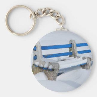 Snow Bench Keychain