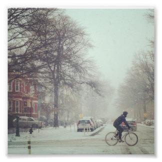 Snow biker in DC Art Photo