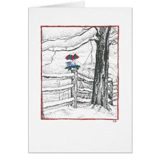"""""""Snow Bird"""" Custom Christmas Card"""