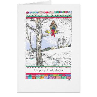 """""""Snow Birds"""" Custom Christmas Card"""