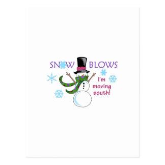 SNOW BLOWS POSTCARD