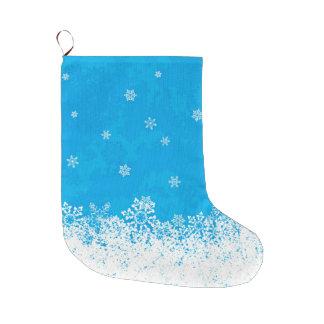 Snow Blue Christmas Stocking