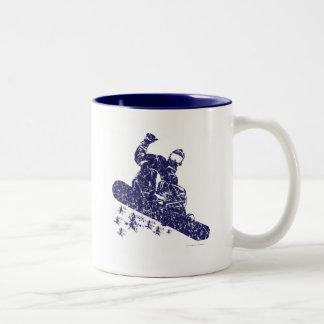 Snow-Boarder Two-Tone Coffee Mug