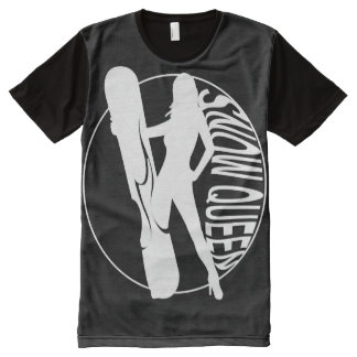 Snow Boarding Queen All-Over-Print T-Shirt