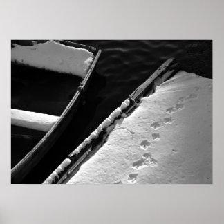 Snow Boat Print