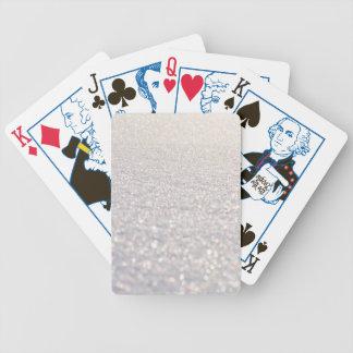 Snow Bokeh Bicycle Playing Cards