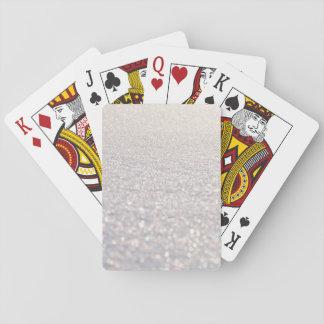 Snow Bokeh Playing Cards