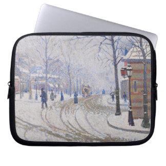 Snow, Boulevard de Clichy, Paris, 1886 Laptop Computer Sleeve