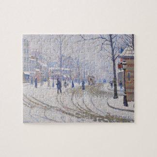 Snow, Boulevard de Clichy, Paris, 1886 Puzzles