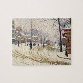 Snow, Boulevard de Clichy, Paris by Paul Signac Jigsaw Puzzle