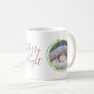 Snow Bubbles Christmas Wreath Holiday Coffee Mug