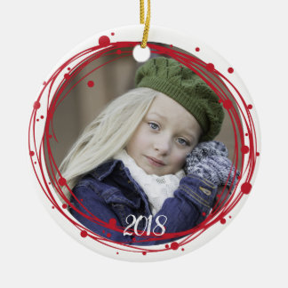 Snow Bubbles Christmas Wreath Ornament