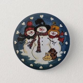 Snow Buddies Snowman Button Pin