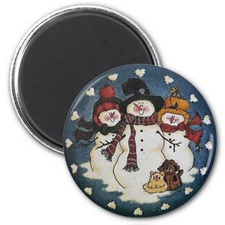 Snow Buddies Snowman Magnet