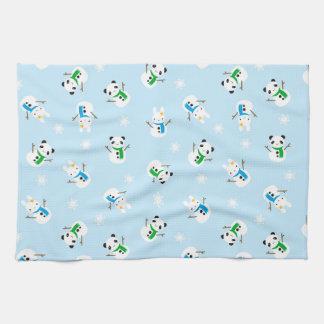 Snow Bunnies & Snow Pandas Kitchen Towel