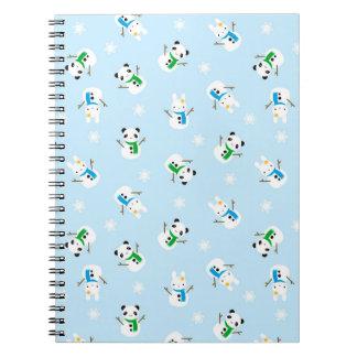 Snow Bunnies & Snow Pandas Notebooks