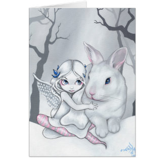 """Snow Bunny"" Greeting Card"