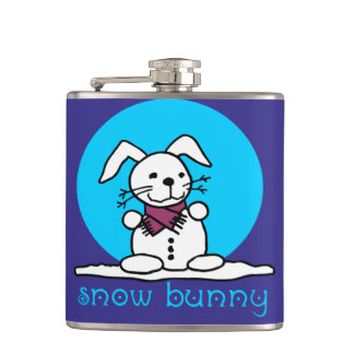 Snow Bunny Hip Flask