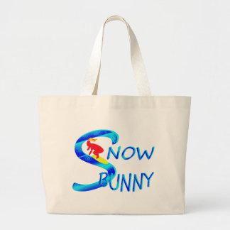 snow bunny jumbo tote bag