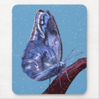 Snow Butterfly Mouse Pad