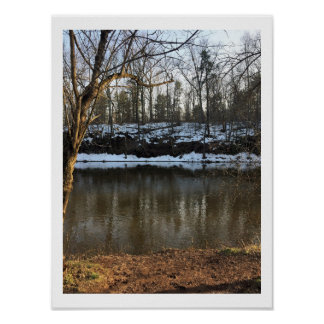 Snow by the Creek Poster