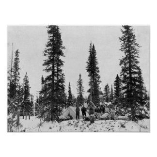 Snow Camping North of the Arctic Circle Poster