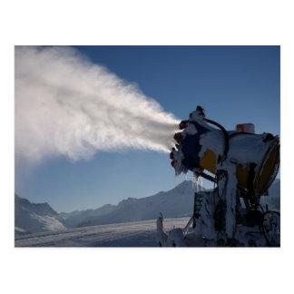 Snow Canon, Snow Maker Shooting Snow Postcard