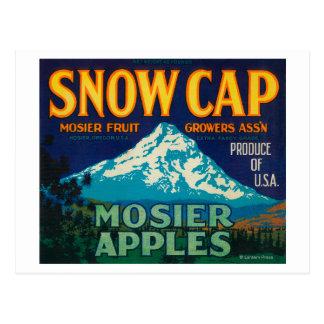 Snow Cap Apple Crate LabelMosier, OR Postcard