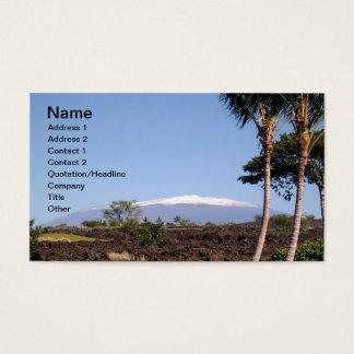 Snow-Capped Mauna Kea Business Card