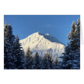 "Snow Capped Mountain - 7""x5"" Art Card"