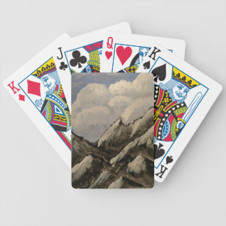 Snow-Capped Mountain Bicycle Playing Cards