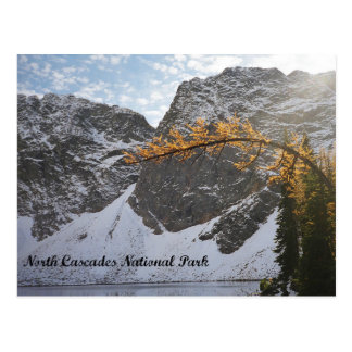 Snow Capped Mountain Lake in North Cascades Postcard