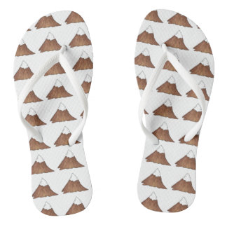 Snow-Capped Mountain Peak Mountains Camp Outdoor Flip Flops