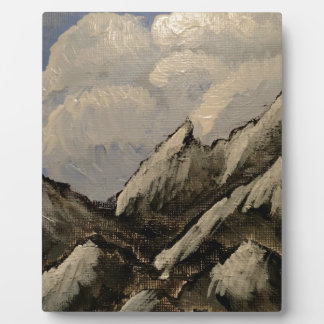Snow-Capped Mountain Plaque