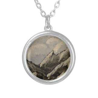 Snow-Capped Mountain Silver Plated Necklace