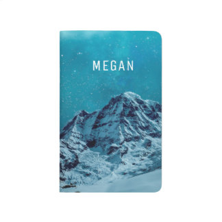 Snow-capped Mountains At Night | Customized Name Journal