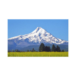 Snow capped Mt Hood in Oregon, USA Canvas Print