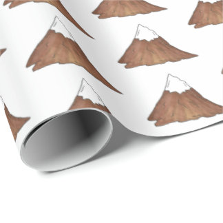 Snow-Capped Peak Mountain Range Climbing Outdoor Wrapping Paper