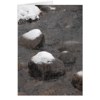 Snow Capped Rocks Card