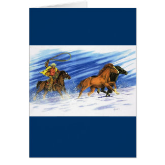 Snow Chase Card