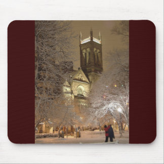 snow_church_couple_tv mouse pad