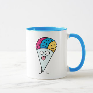Snow Cone tongue out fan ice syrup sweet flavor Mug