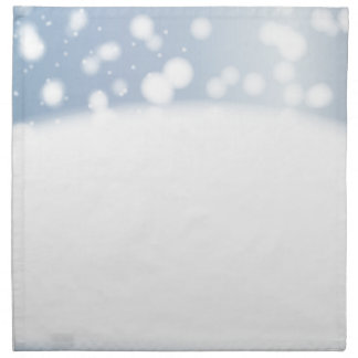 Snow Copy Space Napkin