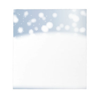 Snow Copy Space Notepad