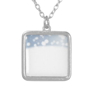 Snow Copy Space Silver Plated Necklace
