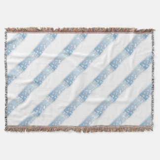 Snow Copy Space Throw Blanket